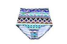 Czy1-czy18 Новое поступление для женщин Высокая талия плавки пляжные купальники с принтом цветов Бикини нижнее бельё для девочек одежда заплыва