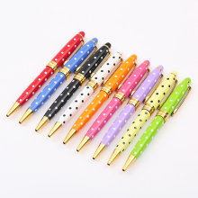 Baoer Fashion Luxury Ballpoint Pen Metal Rollerball Pens For Girls Gifts Rotating Boligrafos Renkli Kalem Lapiceros Creativos