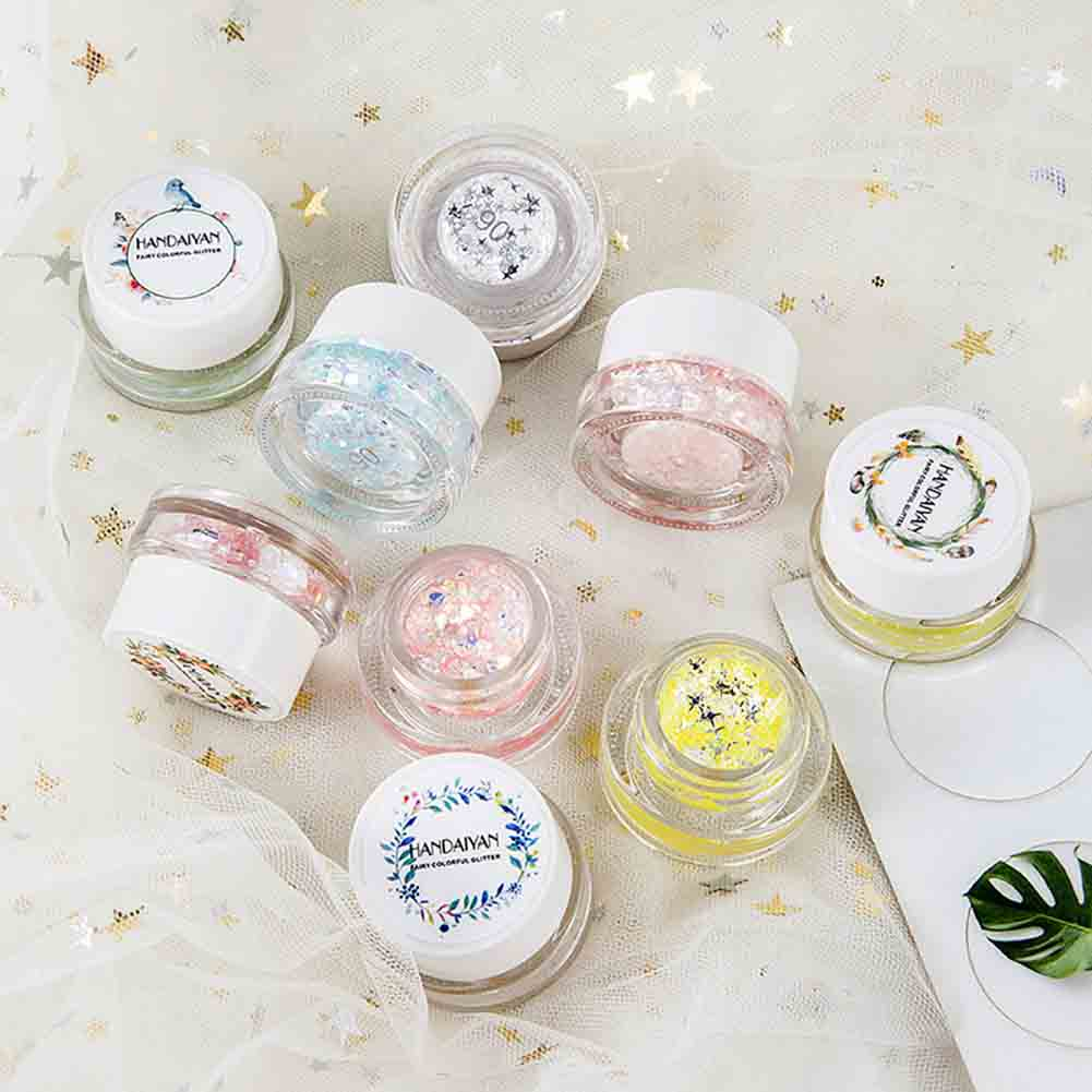 Eye Shadow Professional 1 Bottle Mermaid Sequins Gel Glitter Eyeshadow Makeup Cosmetic Mixed Paillette For Face Body Hair Hjl2018