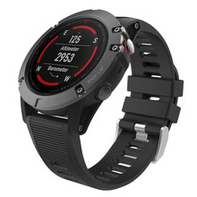 Quick fit 26mm Band for Garmin Fenix 5X/Fenix 3 HR Smart Watch Soft Silicone Replacement Release Connectors 9.11