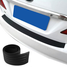 Car Rear Guard bumper rubber scuff trim For SsangYong Actyon Turismo Rodius Rexton Korando Kyron Musso Sports,Auto Accessories