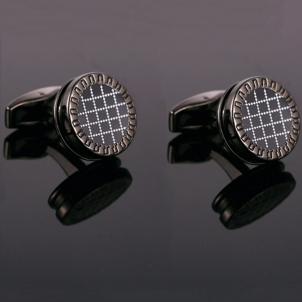 Vagula New Style Fashion Black Music Wedding Cufflink Round Men's Cuff links 2017 Fashion Gift French Shirt Cufflink <font><b>10195</b></font> image