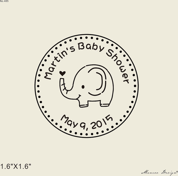 Aliexpress Buy 2 X2 Elephant Baby Shower Stamp Custom Rubber