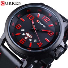 CURREN Calendar Display Casual Black Red Military Sport Design Mens Montre Homme Watch Top Brand Luxury Quartz Wrist Watch Clock все цены