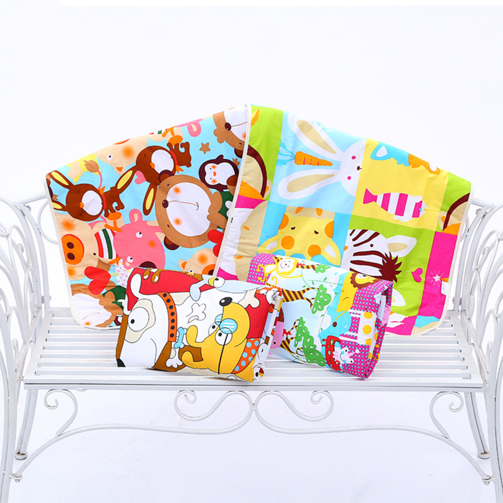 Cartoon Cotton Diaper pad Baby Waterproof Mat Large Baby Mat Cover Infant Urine Pad Mattress Sheet Protector Bedding in Changing Pads Covers from Mother Kids