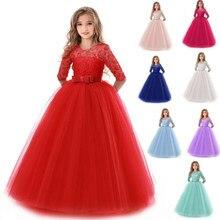 da4bd841c3e8 Vestito Elegante Ragazze Del Partito Lungo del Vestito Delle Ragazze  Vestido Bambini I Bambini Della Principessa