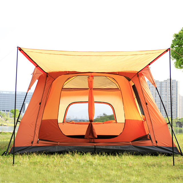 Luxury ultralarge one screen room two bedrooms 6-8 Person Outdoor Camping Tent waterproof party family tent gazebo sun shelter