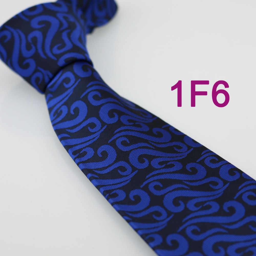 Coachella hubungan laki-laki, Biru tua / biru Royal Paisley yang Normal Jacquard anyaman dasi, Busana resmi leher dasi untuk kemeja pernikahan