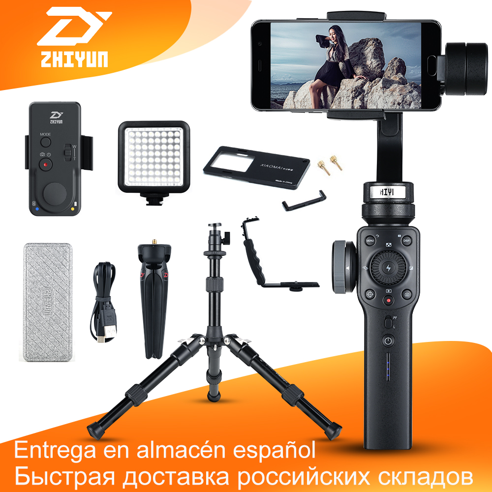 Zhiyun Smooth 4 3-Axis Handheld Smartphone Gimbal Stabilizer for iPhone X 8 7P Samsung S9 S9+ S8 PK Smooth Q DJI Osmo 2