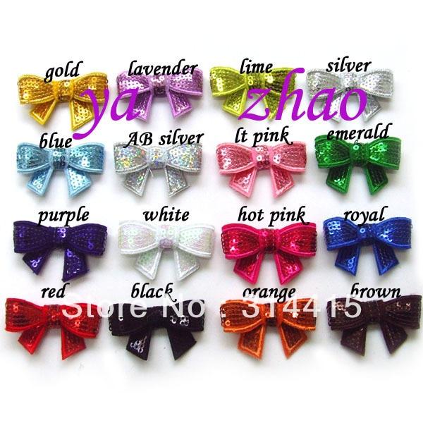 """"""" расшитый блестками банты для волос 500 шт/партия, 16 цветов"""