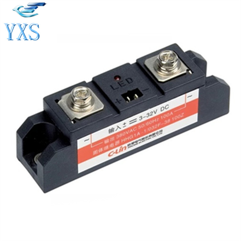 HHG1A-1 Simplex Industrial Grade Solid State Relay HHG1A-1/032F-38 200Z 200A 380VAC 50/60HZ DC Controlled AC
