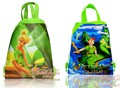 2pcs Tinker Bell Cartoon Drawstring Backpack Bags 34*27CM Non-Woven Fabric Multipurpose Bags Kids Party Gifts,School Furniture