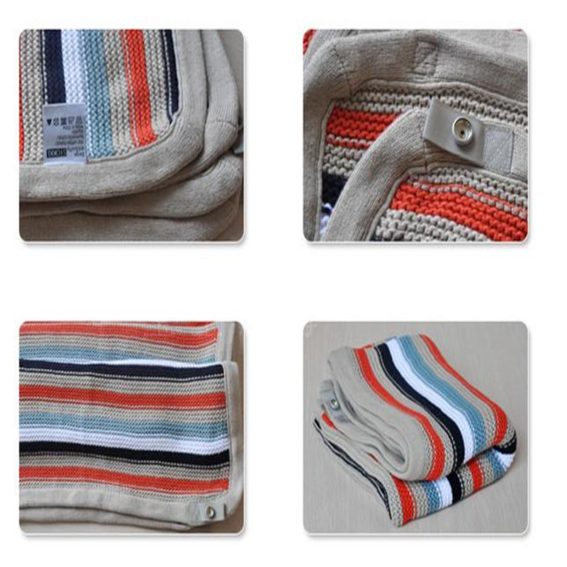 Fashion Brand Baby Knitted Cotton Blanket of Baby Stroller Blanket Gift Swaddle Wrap chic quality casual style solid color cotton pattern knitted blanket