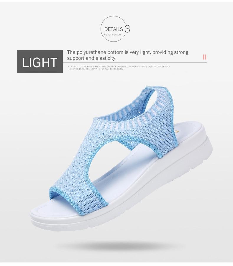 HTB10qn3hbZnBKNjSZFhq6A.oXXav PINSEN Women Sandals 2019 New Female Shoes Woman Summer Wedge Comfortable Sandals Ladies Slip-on Flat Sandals Women Sandalias