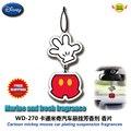 Accesorios del coche de dibujos animados de mickey mouse de los coches perfume agente suave aromático piezas de papel WD-270 envío gratuito