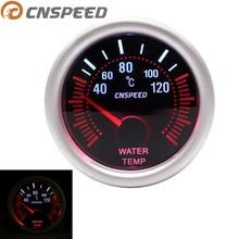 """CNSPEED Автомобильный датчик температуры воды 40~ 120 C """" 52 мм Универсальный Белый светодиодный цифровой 12 В измеритель температуры воды с датчиком"""