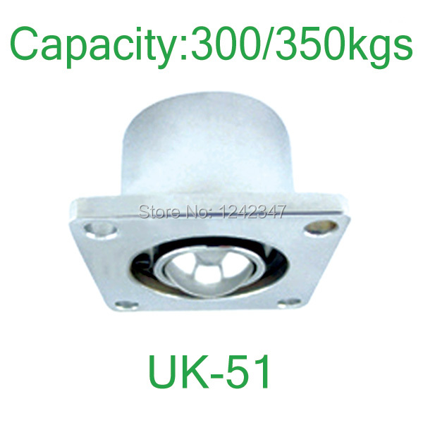 UK-51 2 Flanged 350kgs Load Capacity Steel Ball Roller Caster bearing wheel 51mm Ball Downside Facing UK51 Ball Transfer Unit suck uk