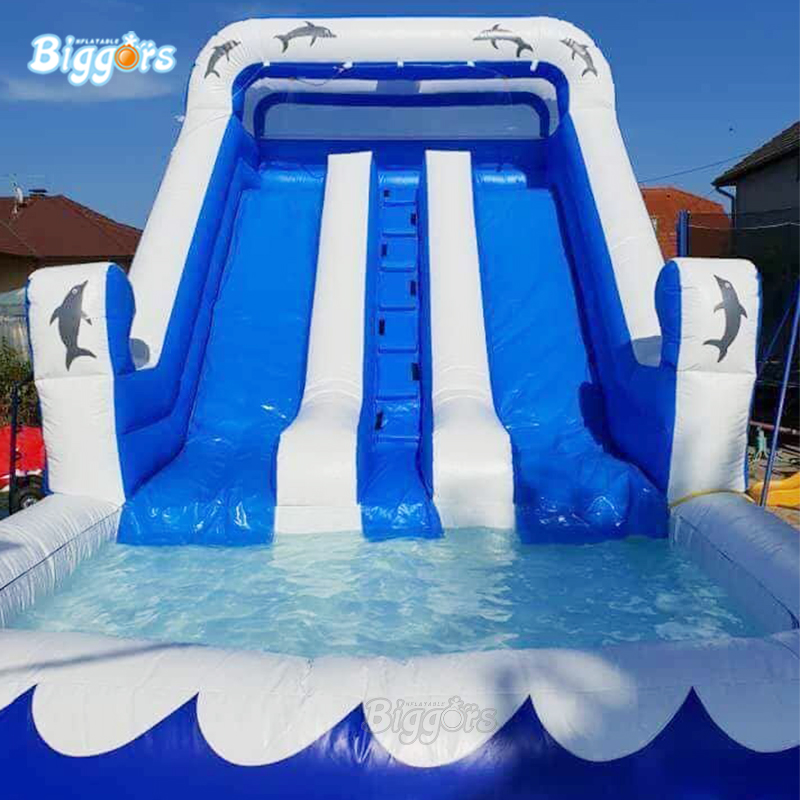 Outdoor Durable PVC Material Commercial Inflatable Water Slide Pool For Kids Playing Amusement