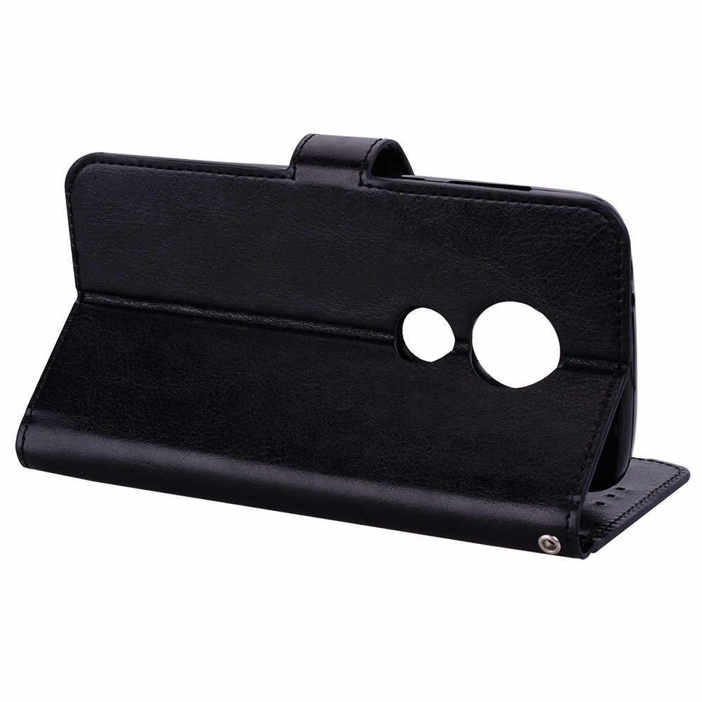 جديد فتحة محفظة جلدية حامل فليب غطاء الجلد القضية ل موتو E5 اللعب 5.2 بوصة دروبشيبينغ Mar16