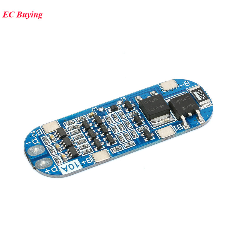 5Pcs <font><b>3</b></font> <font><b>S</b></font> <font><b>10A</b></font> 11.1 V 12V 12.6 V 18650 Lithium Battery Charger Board 18650 Li-Ion Battery Charging BMS Protection Module image