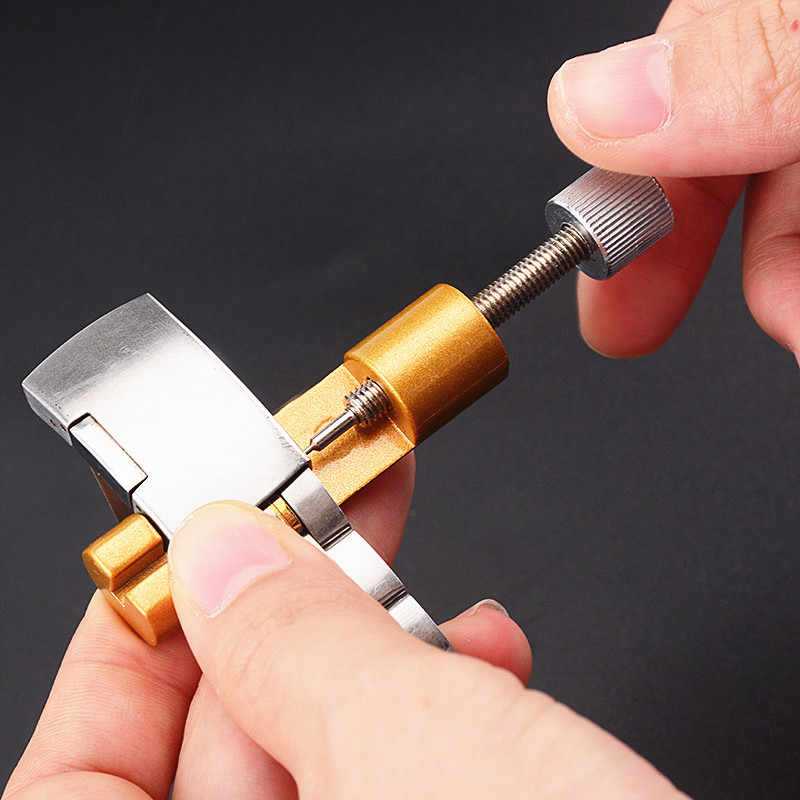 1PC Metal Watch Tools Adjusting Watch Strap Tool With Watch Pin Band Bracelet Link Pin Tool Remover  With 3 Extra Pins