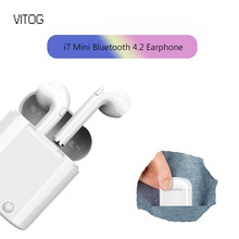 i7s TWS Mini True Wireless Bluetooth Earphone Stereo Earbud Headset with Charging Box Mic for Iphone 6 7 8 X XS android Samsung