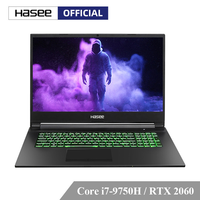 Hasee G8-CT7NA Laptop for Gaming (Intel Core I7-9750H+RTX 2060/8GB RAM/512G SSD/17.3'' IPS 144Hz 72%NTSC)  Hasee-branded notbook
