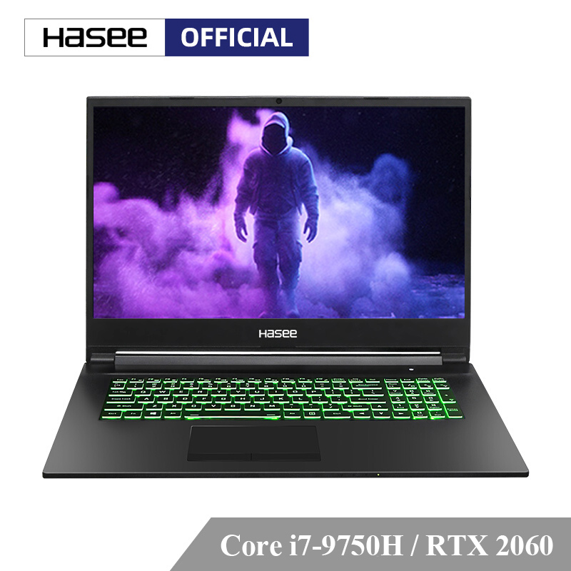 Hasee G8-CT7NA <font><b>Laptop</b></font> for Gaming (Intel Core I7-9750H+RTX 2060/8GB RAM/512G SSD/17.3'' IPS 144Hz 72%NTSC) Hasee-branded notbook