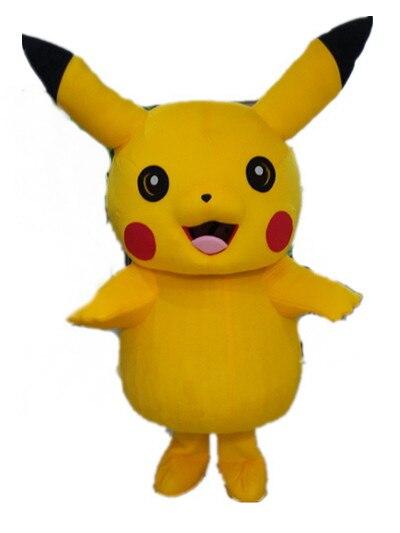 Haute qualité Top Grade Deluxe Pikachu mascotte Costume dessin animé personnage Costumes mascotte Costume fantaisie robe Costume de fête
