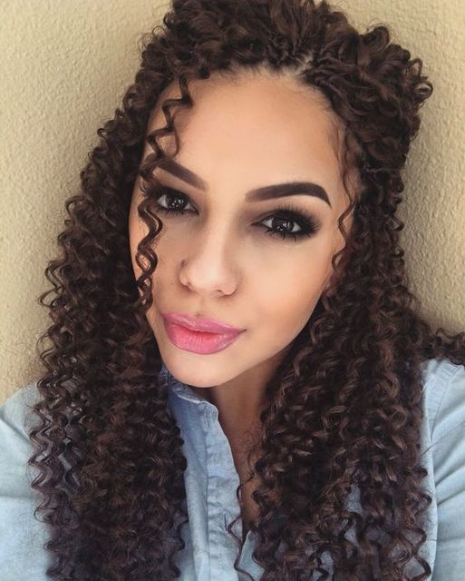 Natural Looking Crochet Braids Freetress Ringlet Wand Curl Synthetic Hair Using Gogo Curls