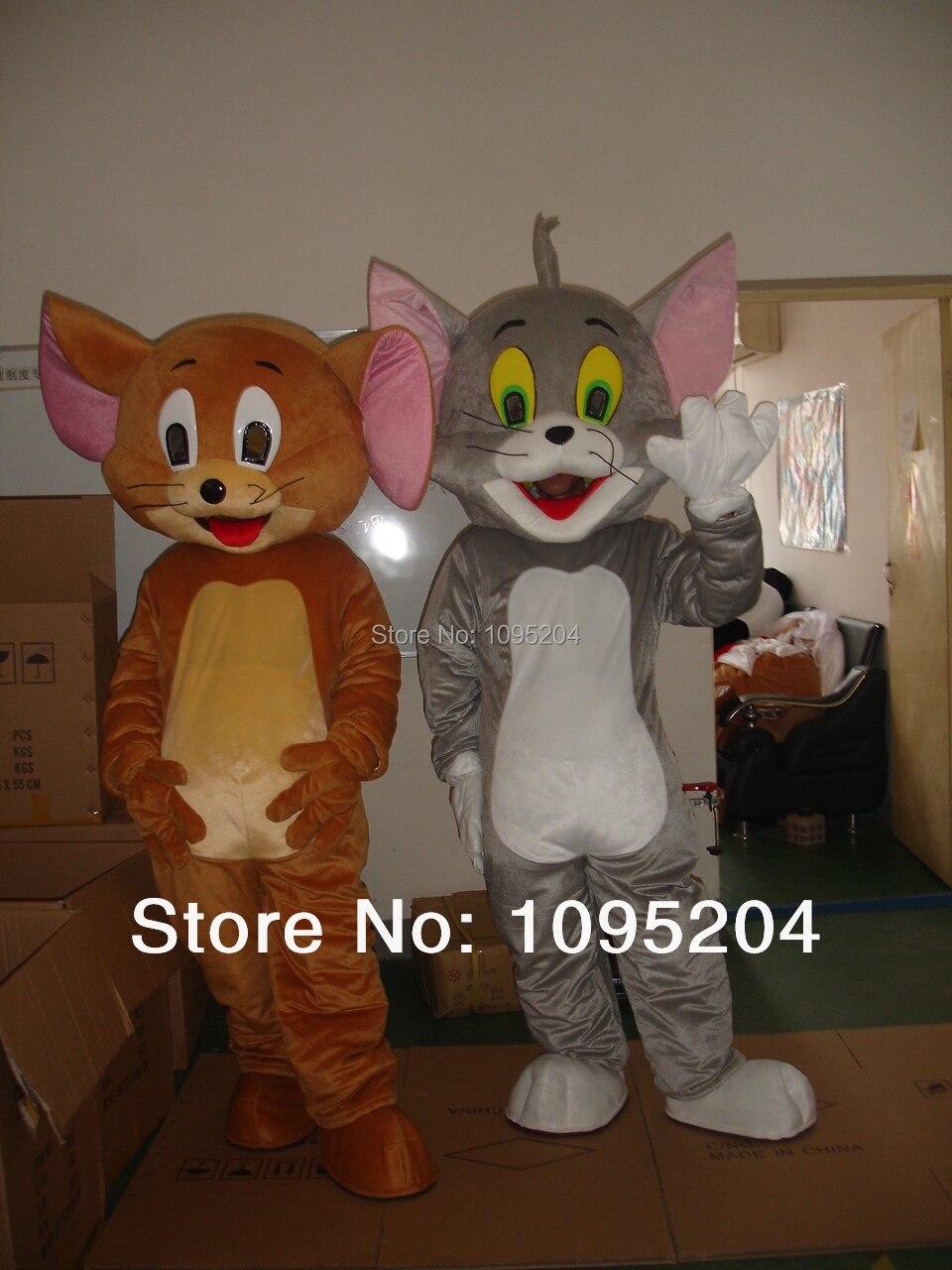 Tom chat et geely souris dessin animé geely souris mascotte costume dessin animé vêtements pour la livraison gratuite
