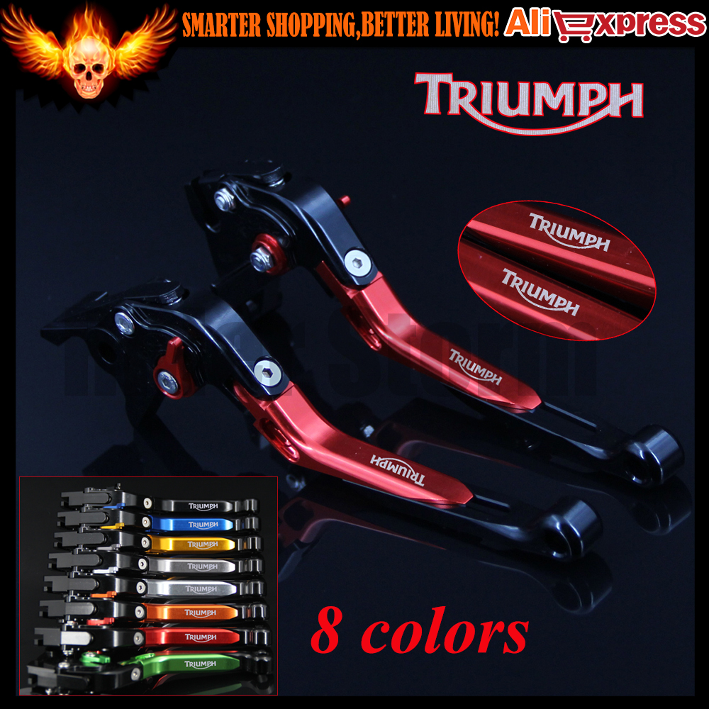 Red+Black 8 Colors New CNC Adjustable Folding Extendable Motorcycle Brake Clutch Levers For Triumph SPEED TRIPLE 1050/S 2016 new brand 8 colors optional brake lever black folding