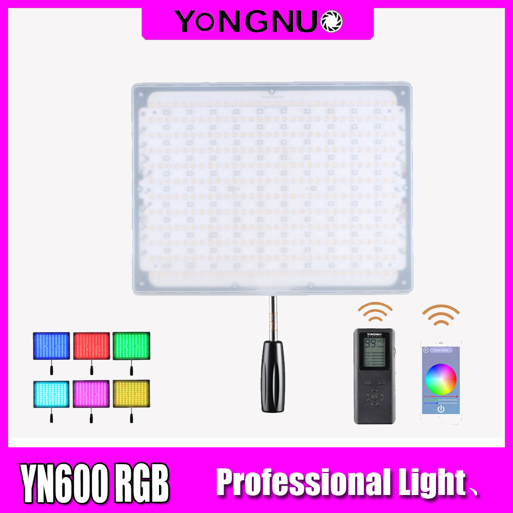 <font><b>YONGNUO</b></font> <font><b>YN600</b></font> RGB LED Video Light YN 600RGB LED Photo Light Adjustable Bicolor 3200K-5500K Dimmable Wireless Bluetooth Remote image