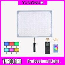 YONGNUO YN600 RGB светодиодный светильник для видео YN 600RGB светодиодный светильник для фото Регулируемый двухцветный 3200 K 5500 K с регулируемой яркостью беспроводной Bluetooth пульт дистанционного управления