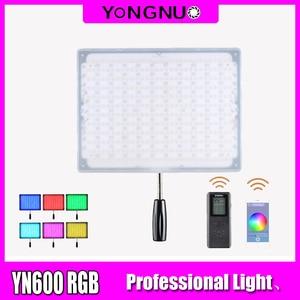 Image 1 - YONGNUO YN600 RGB światło LED do kamery YN 600RGB LED fotografia regulacja światła Bicolor 3200 K 5500 K możliwość przyciemniania bezprzewodowy pilot Bluetooth