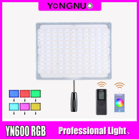YONGNUO YN600 RGB LED Video Light YN 600RGB LED Photo Light Adjustable Bicolor 3200K 5500K Dimmable Wireless Bluetooth Remote