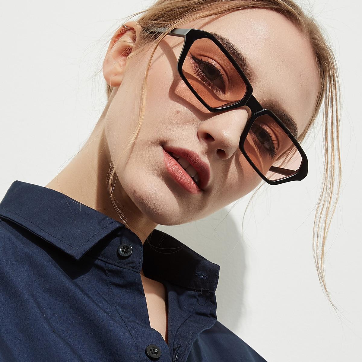 YOOSKE Vintage Rectangle Sunglasses for Women Brand Designer