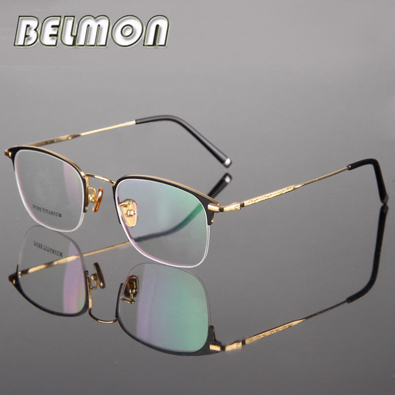 017e533efb Pure Titanium Spectacle Frame Women Eyeglasses Men Computer Optical  Prescription Eye Glasses For Female Male Clear