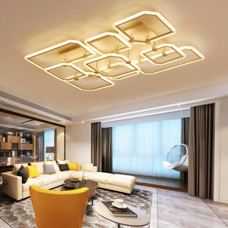 Acrylic Modern ceiling lights for living room bedroom White Black Simple Plafon led ceiling lamp home lighting fixtures AC85-260 black and white round lamp modern led light remote control dimmer ceiling lighting home fixtures