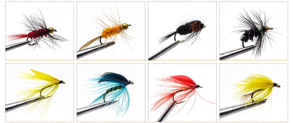 amarrada nymph moscas para truta pike