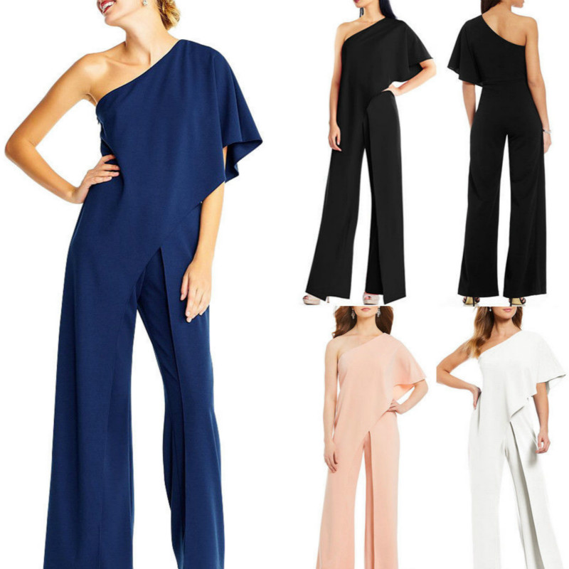 Women Casual Long Trouser Bodysuit Playsuit Ladies Off Shoulder Bodycon   Jumpsuit