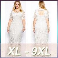 JRQIOT 6XL Plus Size Women Clothing Lace Dress Large Size Dress Sexy Big Size Black Ladies