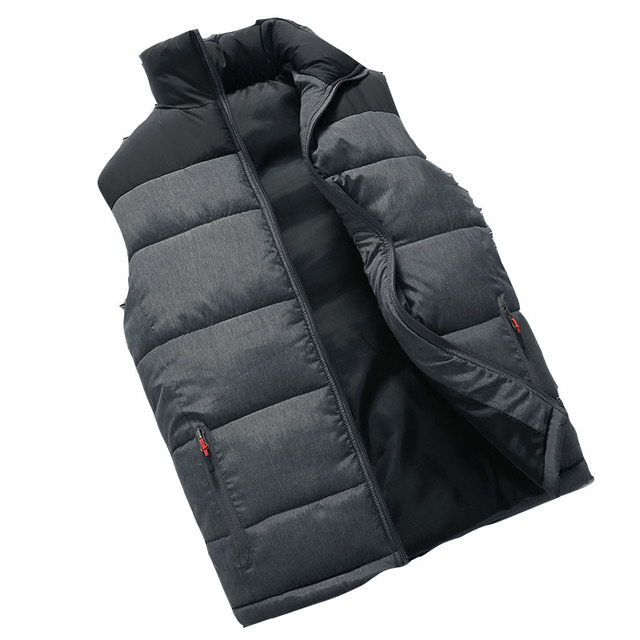 Icpans Vest Waistcoat Winter Sleeveless jacket Men Warm Down Vest Jacket for Men Winter Sleeveless Jackets Coat Plus Size 4XL