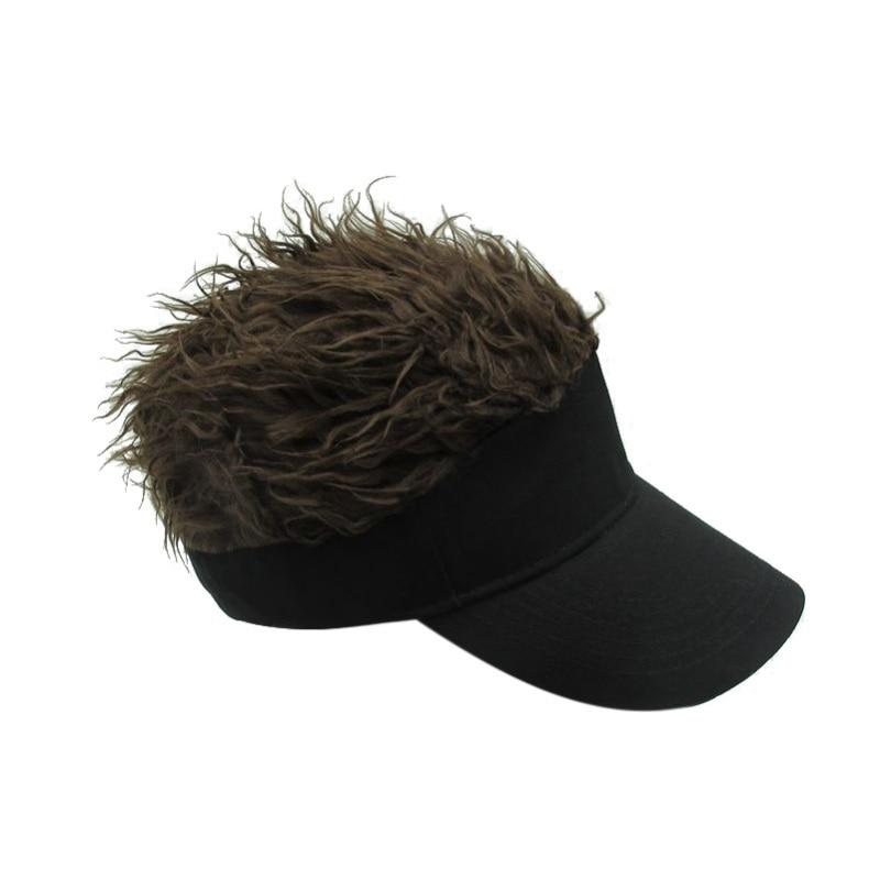 Topi pria Topi Hangat Gaya Rambut Sun Visor pria Hairstyle Wig Lucu ... 539bf12526