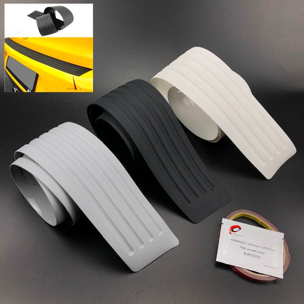 Car Trunk Rear Bumper Scratch Bar Universal Car Black Rear Bumper Sill Car Black Rear Bumper Sill Protector Plate Rubber Cover