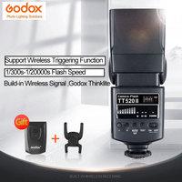 Godox TT520ii flashes Built in Wireless Signal, Godox Thinklite 433MHz GN33 Camera Flash Speedlite Light For Canon Nikon Camera