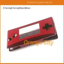 Metal konut Shell kılıf kapak için Nintendo Gameboy mikro GBM ön arka pil kutusu tutucu