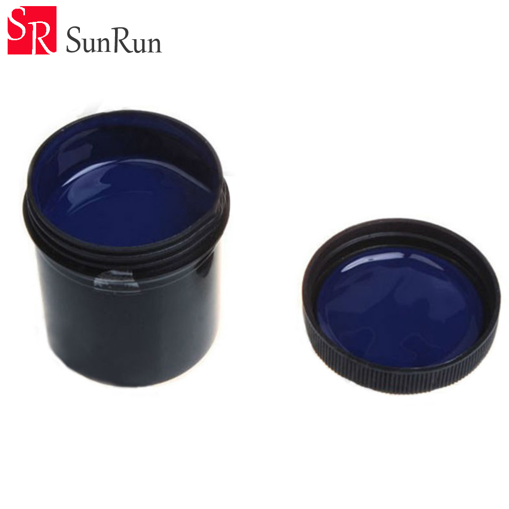100g Photoresist Anti-etching Blue Ink Paint for DIY PCB Dry Film Replacement asia blue card 100g