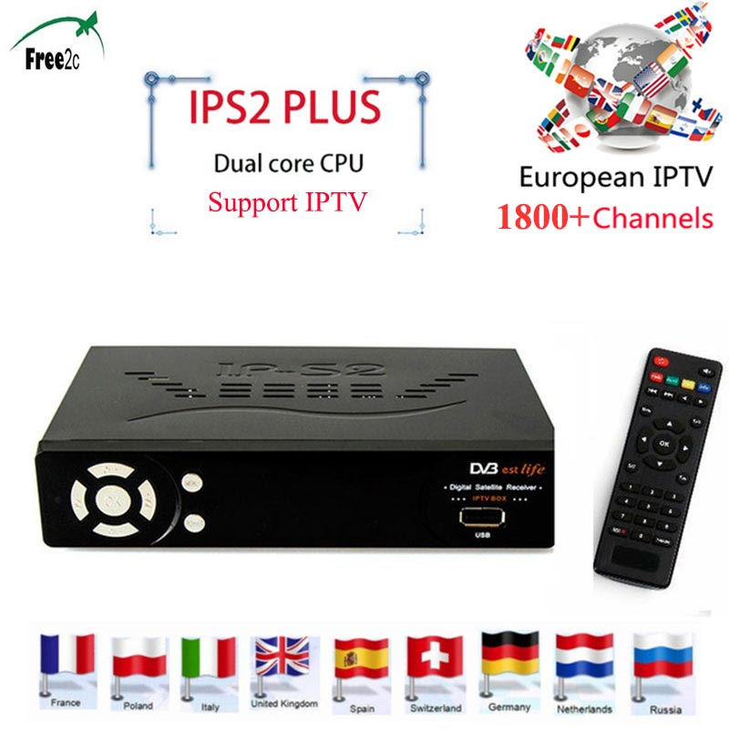 IPS2 Plus Full HD 1080P DVB-S2 Smart Digital Satelliter Receiver with Dual core CPU set top tv box Support 1800+LIVE Europe IPTV sinairyu high speed car dvb t2 tv box digital tv receiver with dual tuners for russia thailand indonesia singapore colombia