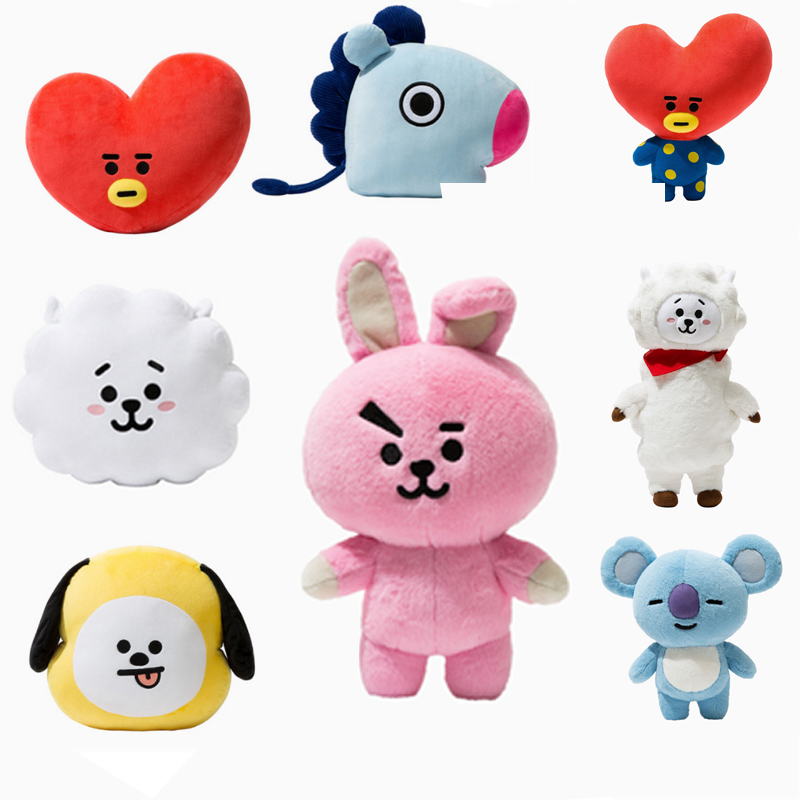 New Kpop Bangtan Boys Bts Bt21 Vapp Same Pillow Plush Cushion Warm Bolster Q Back Soft Stuffed Doll 25 Cm Tata Cooky Chimmy Strong Packing Costumes & Accessories
